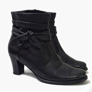 Gabor Austrian Leather Comfort Slouch Bow Booties